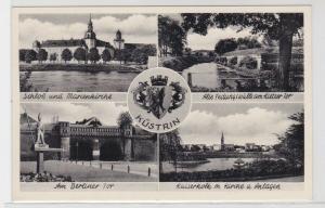 69926 AK Küstrin (Kostrzyn nad Odrą) - Schloß, Marienkirche, Berliner Tor