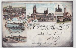 94763 Ak Lithographie Gruss aus Strassburg im Elsass Gewerbslauben usw. 1899