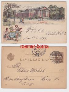 82602 Ganzsachen Postkarte Budapest Mücsarnok Palais des Beaux Arts 1896