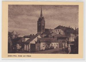 90121 AK Zehden Oder (Cedynia) - Kirche und Schule
