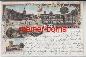 82525 Ak Lithographie Gruß aus Bad Salzbrunn Szczawno-Zdrój 1899