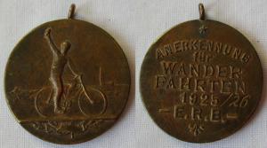 Medaille Anerkennung für Wanderfahrten 1925 E.R.B. (Radfahrerbund) (114975)