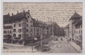 79192 AK Schaffhausen - Frohnwagplatz mit Apotheke und Geschäften 1906