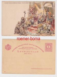 82599 Ganzsachen Postkarte St.Astrik Apporte á St.Ètienne la Couronne Royal 1896