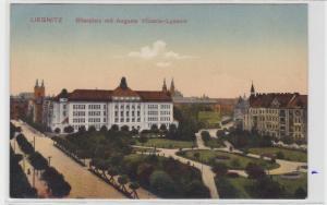 75469 AK Liegnitz - Bilseplatz mit Auguste Viktoria-Lyceum