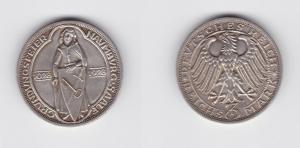 Silber Münze 3 Mark 900 Jahre Stadtrecht Naumburg 1928 A vz (135367)