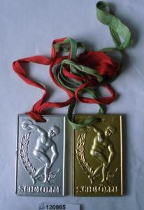 2 DDR Medaillen Schmölln KFA Leichtathletik Rat des Kreises Volksbildung (121023