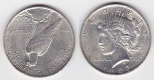 1 Peace Dollar Silber Münze USA 1923 (125564)