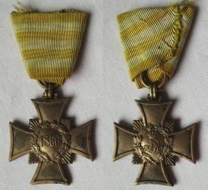 Orden Sachsen Erinnerungskreuz 1866 am Dreieckband (108805)
