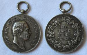 Medaille für Treue in der Arbeit 3.Form König Friedrich August 1905 (120720)