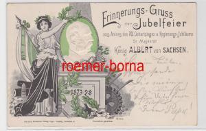 72638 Präge Ak Erinnerungs Gruß der Jubelfeier König Albert von Sachsen 1898