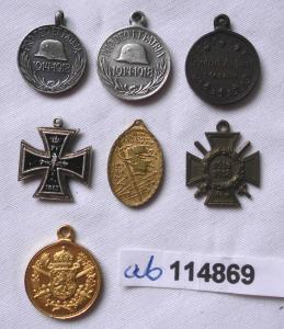 7 Orden 1.Weltkrieg Miniaturen 16 mm (114869)