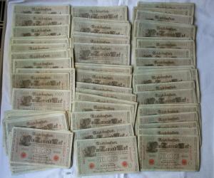 100 Banknoten zu 1000 Mark 21.April 1910 Deutsches Kaiserreich (123301)