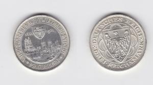 3 Mark Silber Münze 300 Jahre Stadtbrand Magdeburg 1931 Jäger 347 Stgl.(135365)