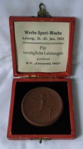 Porzellan Medaille Deutscher Reichsausschuss für Leibesübungen OVP (114962)