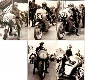 50694/5 DDR Fotos von Motorrad Rennfahrern um 1960