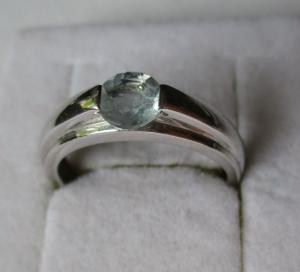 Hochwertiger 925er Sterling Silber Ring mit Zirkonia Signatur KNJ (126439)