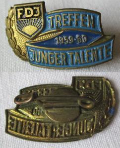 DDR FDJ Abzeichen Treffen Junger Talente 1959 - 1960 (135967)