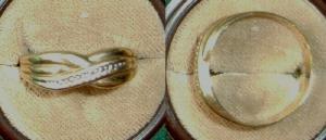 Alter Damen-Ring aus 333er Gold, elegant gearbeitet (DI2140)