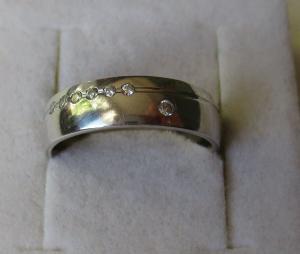 Hochwertiger 925er Sterling Silber Ring Ehering Verlobung Zirkonia (125997)