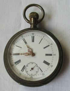 Elegante Lépine Herren Taschenuhr Phenix Watch Co. 800er Silber um 1900 (135848)