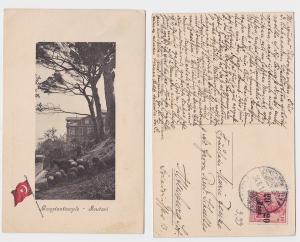 91342 AK Constantinople Konstantinopel Soutari Deutsche Post in der Türkei 1911