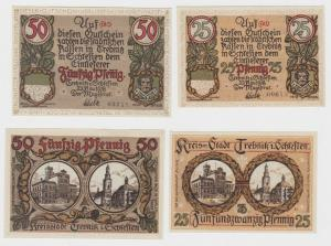 25 + 50 Pfennig Banknote Notgeld Stadt Trebnitz Trzebnica 22. Nov. 1918 (135757)