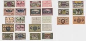 13 Banknoten Notgeld Stadt Glogau Glogów 1916 - 1920 (136325)