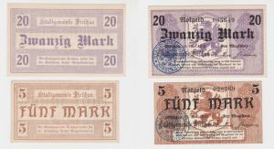 5 - 20 Mark Banknote Großnotgeld Stadt Dirschau 15. November 1918 (137709)