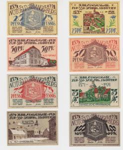25 Pfennig - 1 Mark Banknoten Notgeld Stadt Angerburg Węgorzewo 1921 (137521)