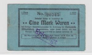 1 Mark Banknote Notgeld Mikultschütz Donnersmarckhütte in Zabrze um 1920(137548)