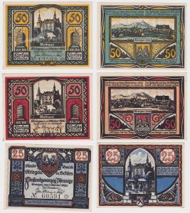3 Banknoten Notgeld Städtische Sparkasse Striegau 1.10.1920 (120425)