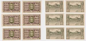 MUSTER 6x 50 Pfennig Banknoten Notgeld Stadt Lötzen Giżycko 1.11.1920 (137881)