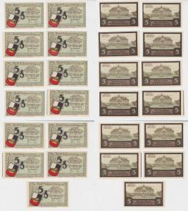 MUSTER 13 Banknoten Notgeld Stadt Johannisburg Pisz 1. Oktober 1921 (137882)