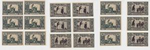 MUSTER 9 Banknoten Notgeld Stadt Grünberg Zielona Góra Stadtbank 1922 (137910)