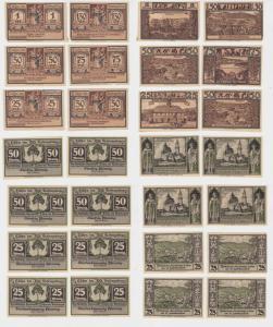 14 Banknoten Notgeld Stadt Lähn Wleń Städtische Sparkasse 1922 (137885)