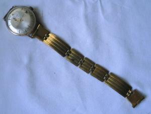 Alte vergoldete Herren Armbanduhr Marke Glashütte Kaliber 69.1  (116669)