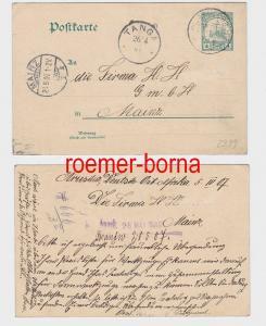81890 seltene Ganzsachen Karte Deutsch Ostafrika Aruscha 6.4.1907