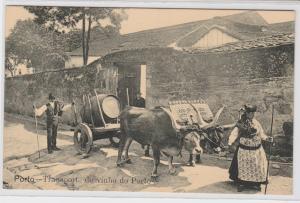 83705 Ak Porto Portugal - Transport de vinho do Porto 1914