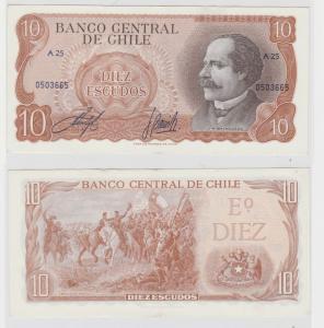 10 Escudos Banknote Chile bankfrisch UNC Pick 143 (138385)