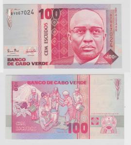 100 Escudos Banknote Banco de Capo Verde 1989 kassenfrisch UNC (138441)