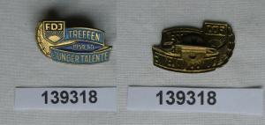 DDR FDJ Abzeichen Treffen Junger Talente 1959 - 1960 (139318)