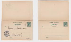 80946 seltene Ganzsachen Antwortkarte Marschallinseln Jaluit 1901