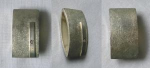 Moderner Damen Kettenanhänger 925er Silber mit kleinem weißen Stein (114077)
