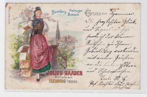 84075 Reklame AK Baader's Freiburger Bretzeln - Julius Baader Hoflieferant 1903