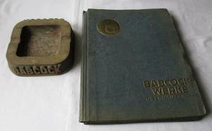 Firmenschrift und Reklame Aschenbecher Babcock Werke Oberhausen um 1930 (115253)
