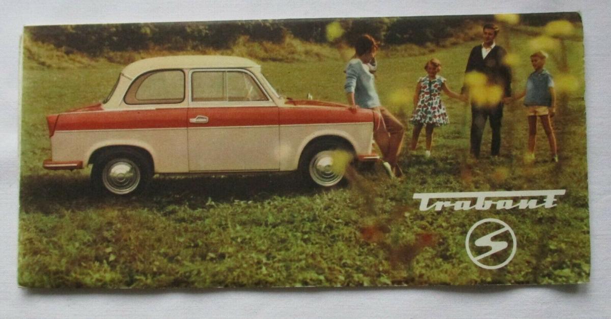 Seltenes Reklame Prospekt Trabant VEB Sachsenring Zwickau 1962 (114194) 0