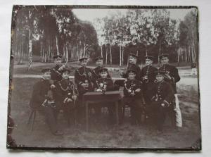 Reservistika Foto Gruppenbild Soldaten Dresden um 1900 (114850)