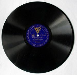 Schellackplatte Schallplatten-Volksverband