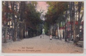 91937 Ak Bad Pyrmont Hauptallee vom Brunnenplatz gesehen um 1920